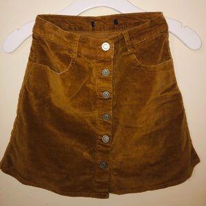 PacSun button down skirt
